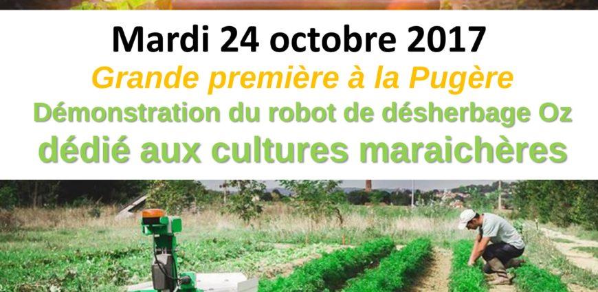 invitation à la démonstration du robot OZ NAIO TECHNOLOGIES 0 LA PUGERE le 24 Octobre 2017