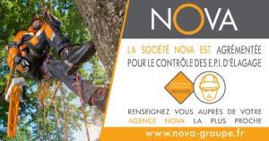 Nova groupe est agrémenté pour le contrôle de vos équipements de protection individuelle (EPI) d'élagueur, grimpeur arboriste ou bûcheron