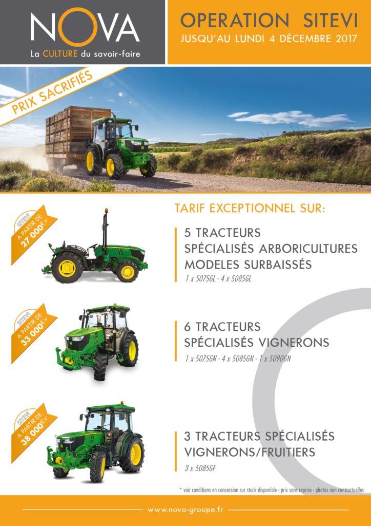 tarif exceptionnel sur une sélection de tracteurs en concessios NOVA. voir conditions en concession, prix sans reprise .