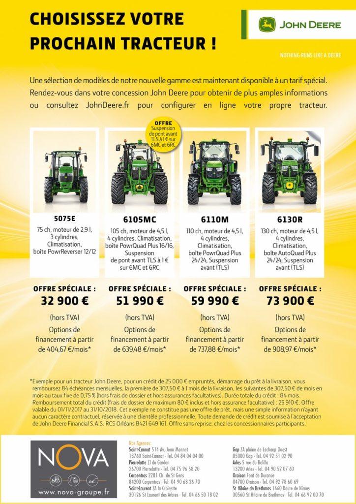offre speciale tracteur john deere 2018 nova paca actualites