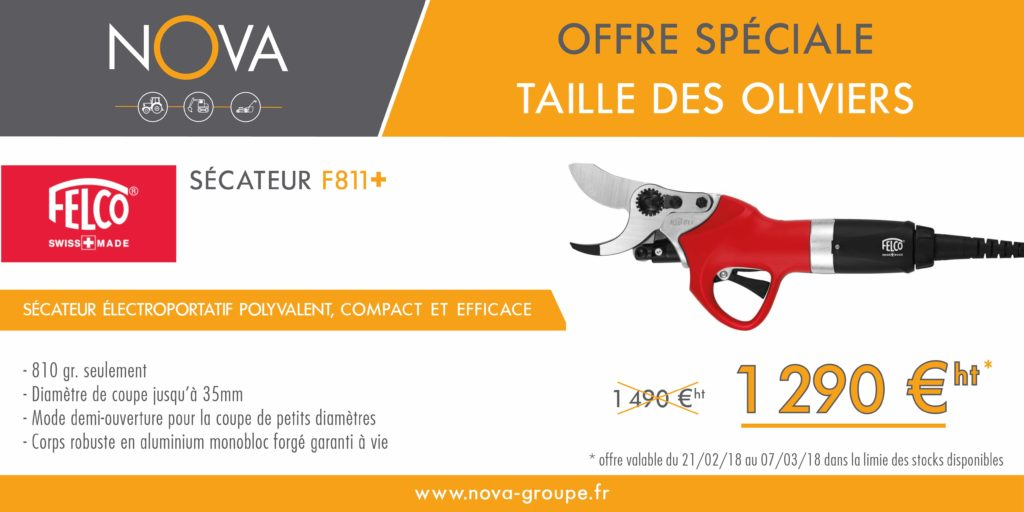 secateur FELCO F811+ taille des oliviers