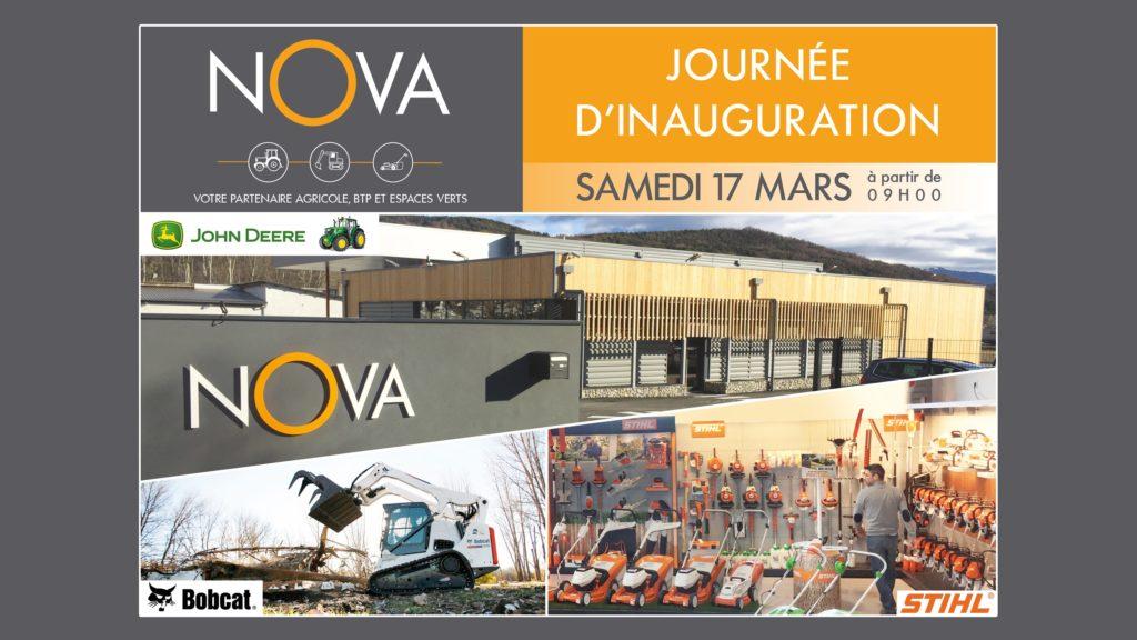 journéee inauguration samedi 17 mars 2018 à Gap de votre nouvelle agence Nova , vente location reparation materiels agricoles, btp et espaces verts