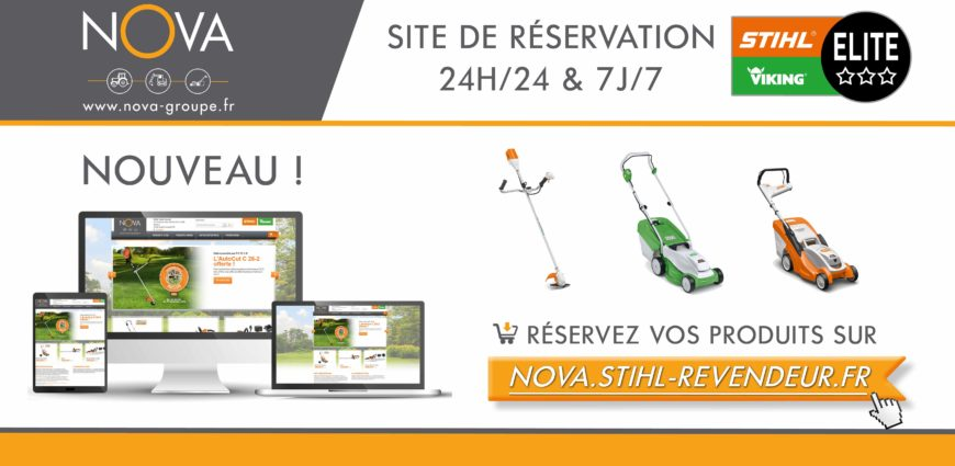 Site de e r servation stihl viking chez nova for Site de reservation