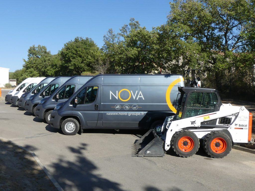 flotte de camion d'intervention reparation entretien sav tracteur machine materiels agricole en panne mini pelle btp tondeuse gazon jardin chez nova en région paca