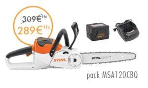 tronçonneuse MSA120 offre prix promotion