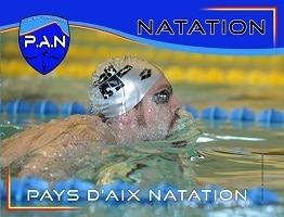 affiche paysage course natation