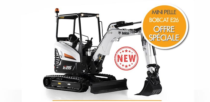 offre spéciale prix mini pelle neuve bobcat R series E26 PELLE COMPACTE OFFRE SPECIALE PROMOTION NOVA