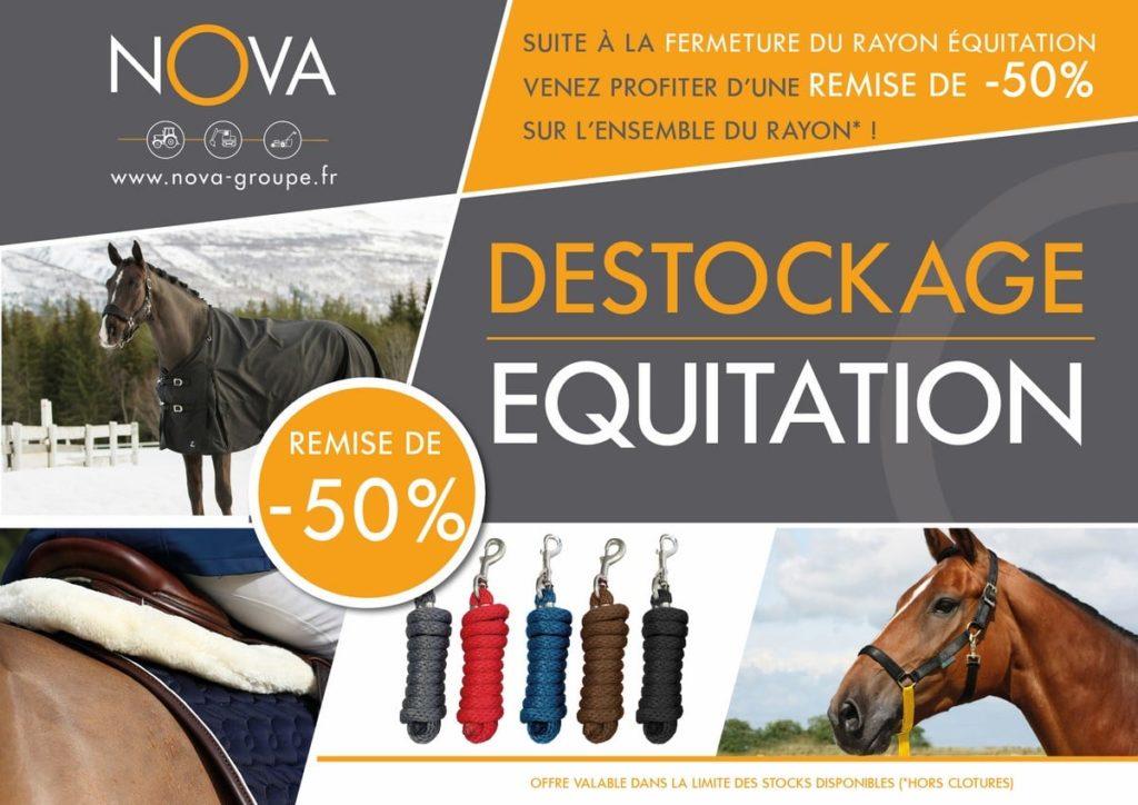 destockage equitation -50% sur le rayon équitation chez nova