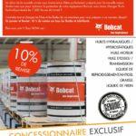 Remise -10% huiles bobcat janvier février 2019
