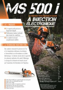Fiche produit tronçonneuse STIHL MS 500i à injection électronique en exclusivite chez NOVA en région PACA