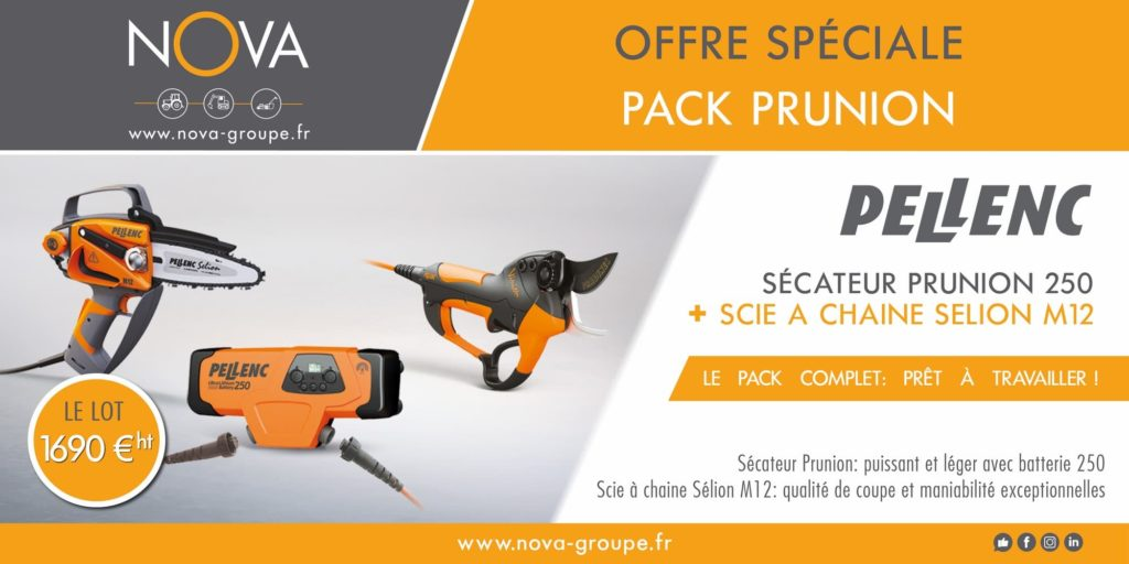 offre secateur PELLENC 250 et tronco SELION M12 2019 (nova)