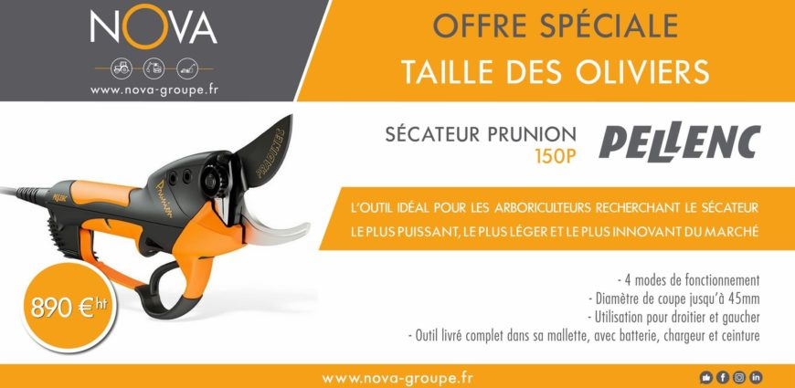 secateur PELLENC 150P 2019 offre promo(NOVA)