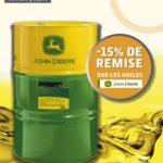 JD HUILE PROMO AVRIL 2019 (NOVA) remise 15% sur huile JD HYGARD 20L 55L 209L PLUS 50 II 20L 55L 209L