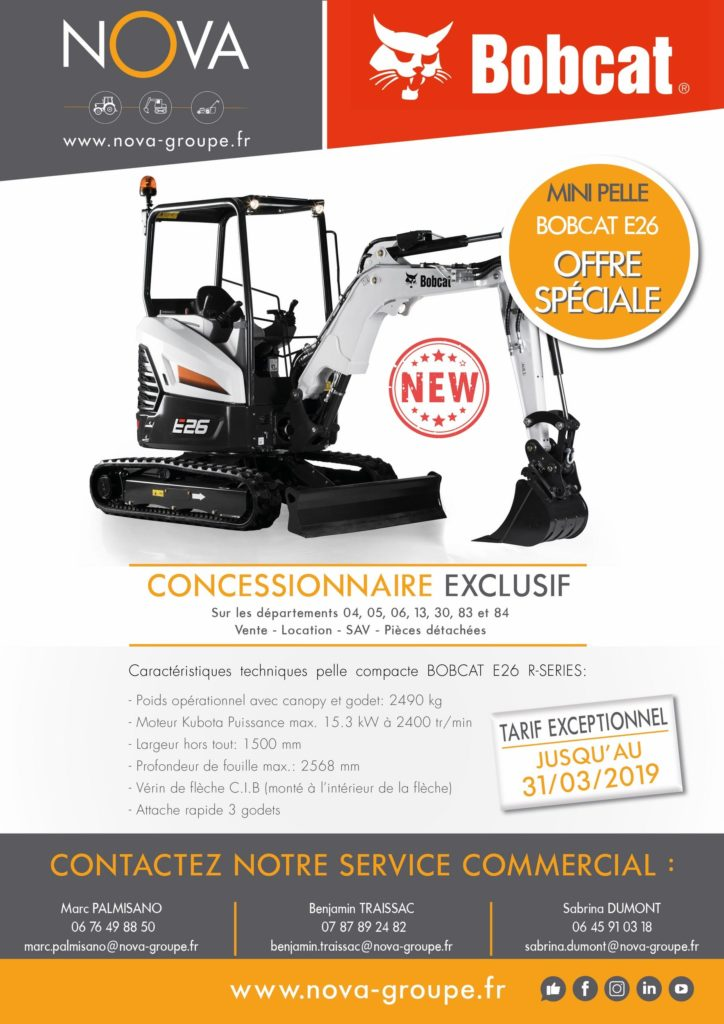 flyer bobcat R series E26 OFFRE 2019 promotion