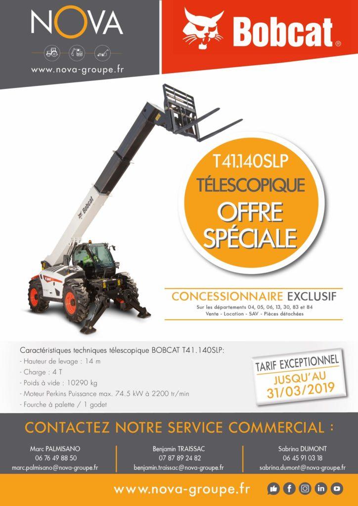 flyer bobcat TELESCO T41.140SLP OFFRE 2019 promotion
