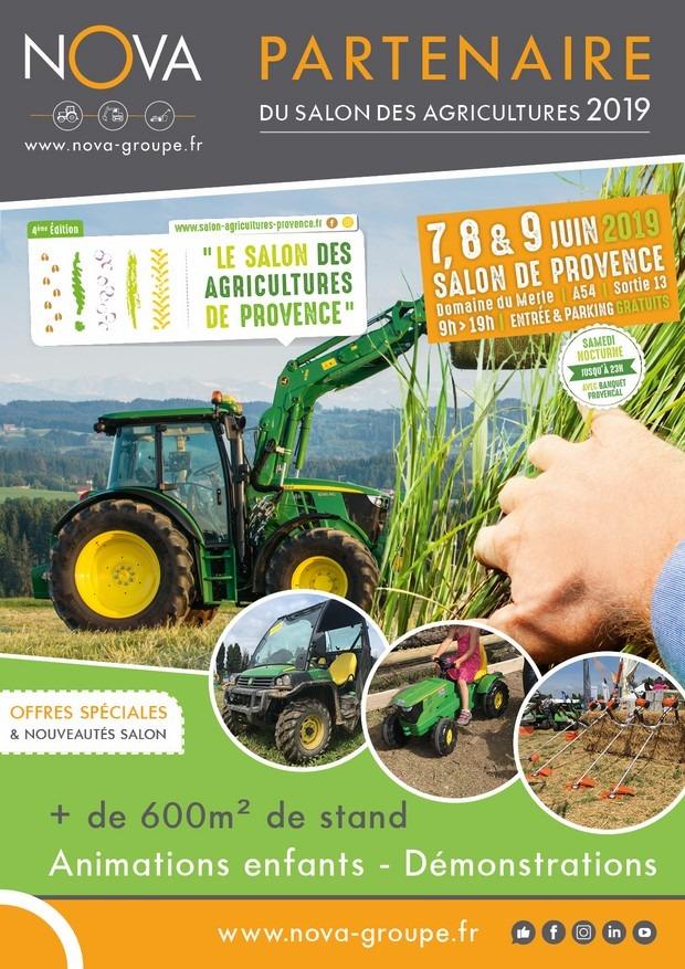 AFFICHE MAGASIN NOVA SALON DES AGRICULTURES DOMAINE DU MERLE 7 8 9 juin 2019