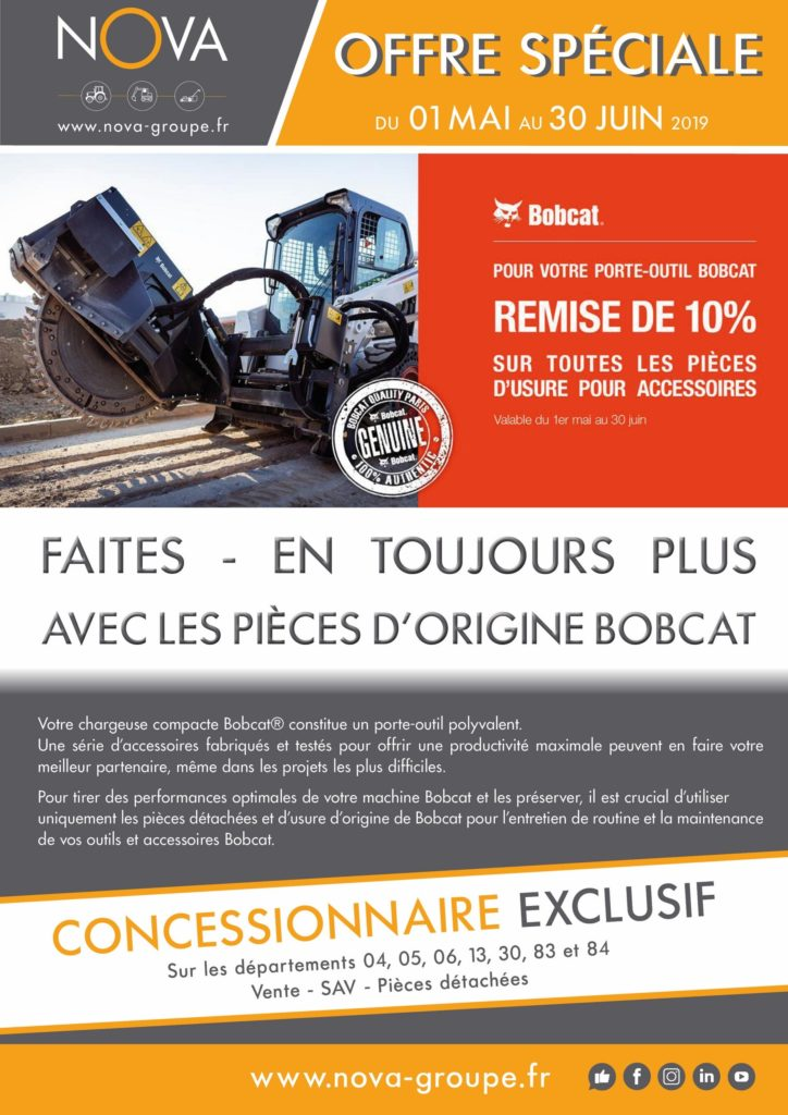 promotion pieces usures bobcat mai juin 2019