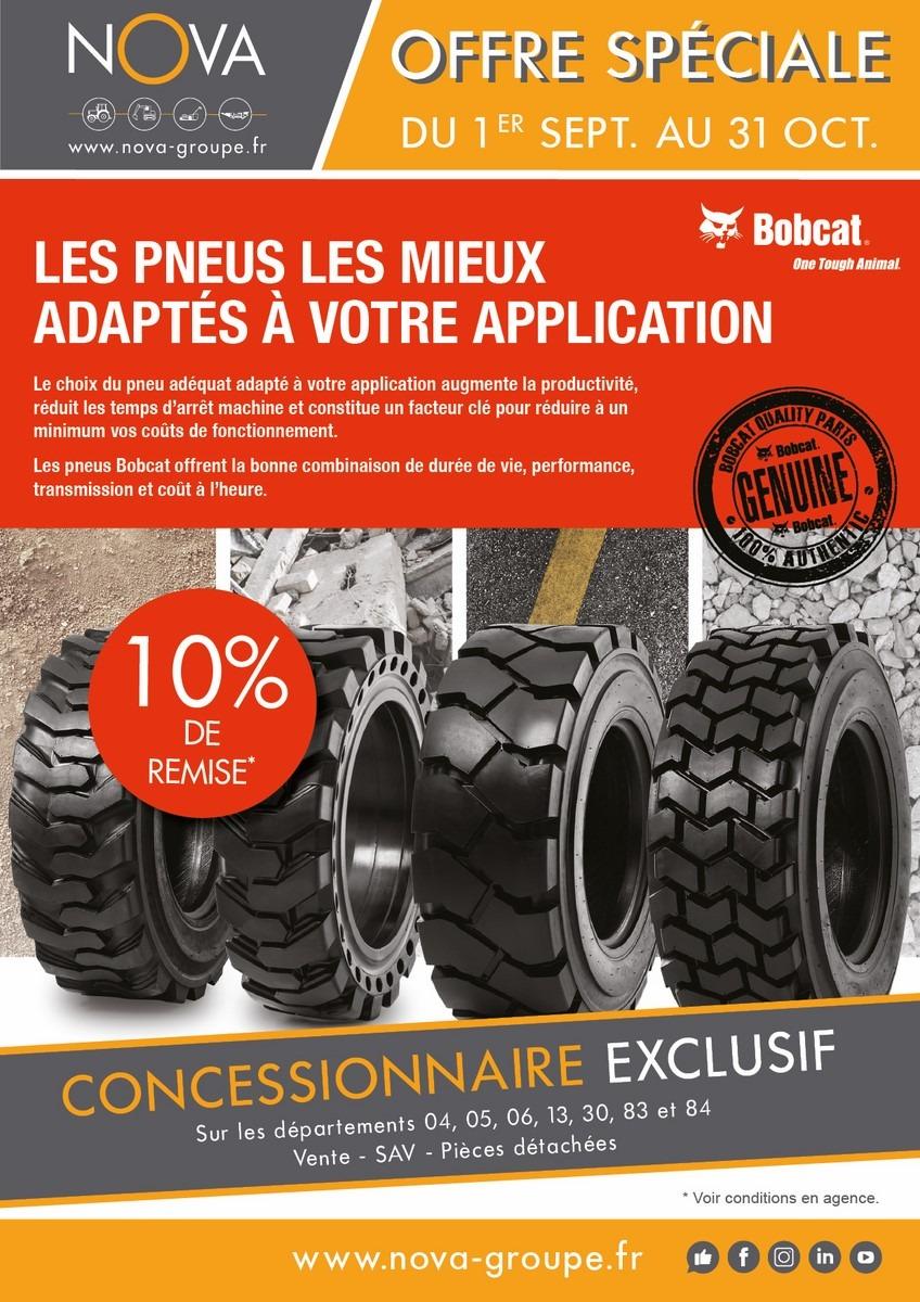 promotion bobcat offre du mois 10 sur les pneus. Black Bedroom Furniture Sets. Home Design Ideas