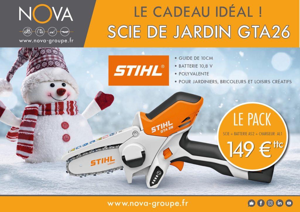 Offre Cadeau Noel chez Nova Groupe Scie de jardin et loisirs creatifs stihl gta26