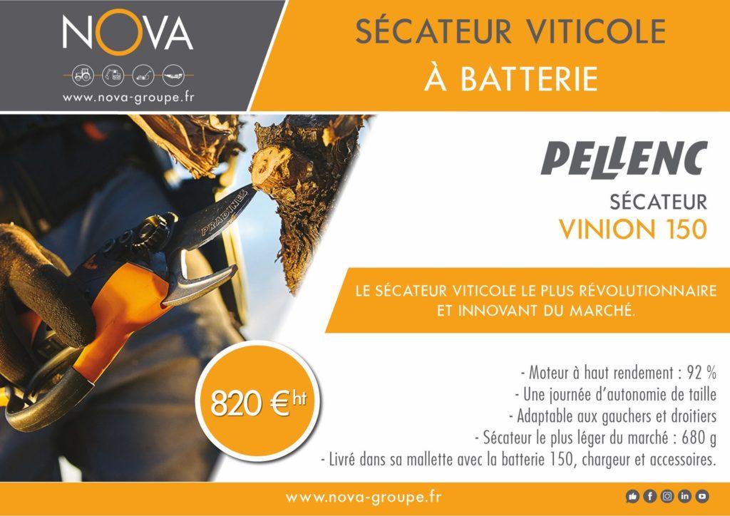 PELLENC VINION secateur viticole chez nova paca