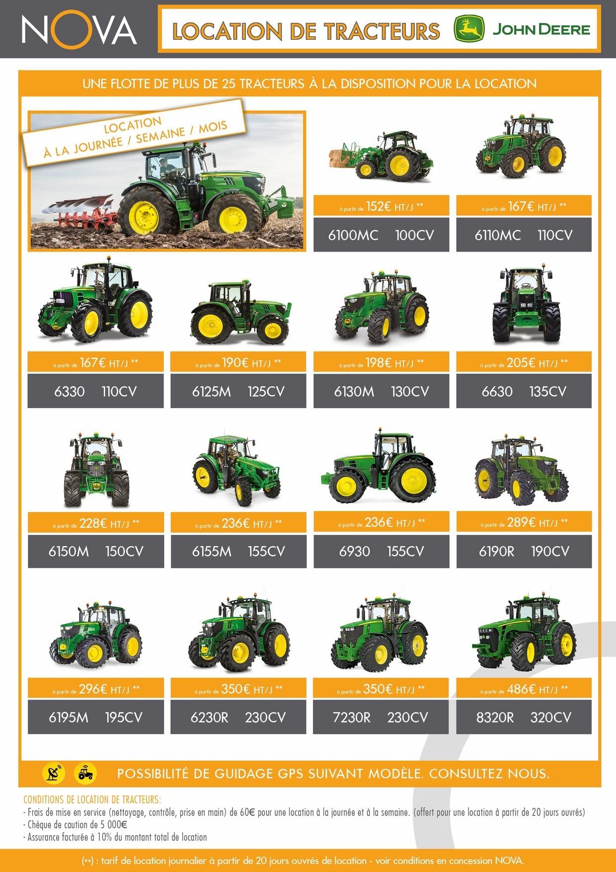 Plaquette location de tracteurs agricoles région PACA Languedoc Roussillon Occitanie