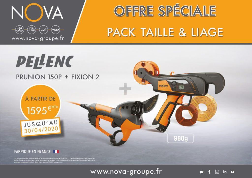 offre pellenc pack taille et liage secateur prunion 150P et fixion 2 chez Nova PAACA