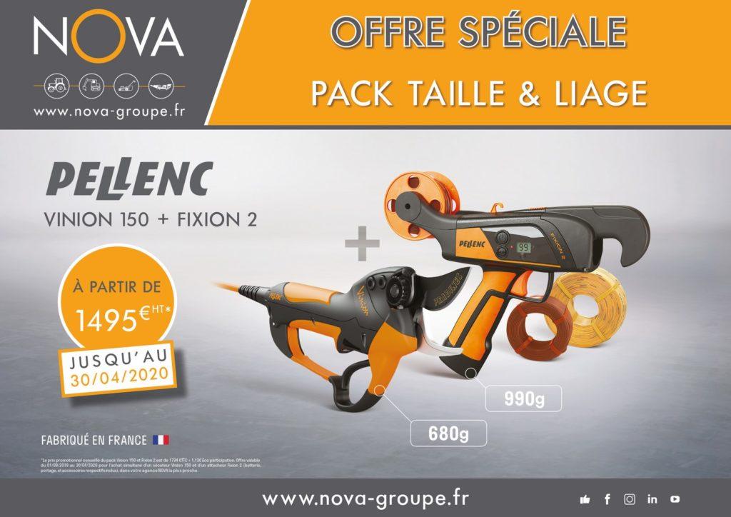 offre pellenc pack taille et liage secateur vinion 150 et fixion 2 chez Nova PAACA