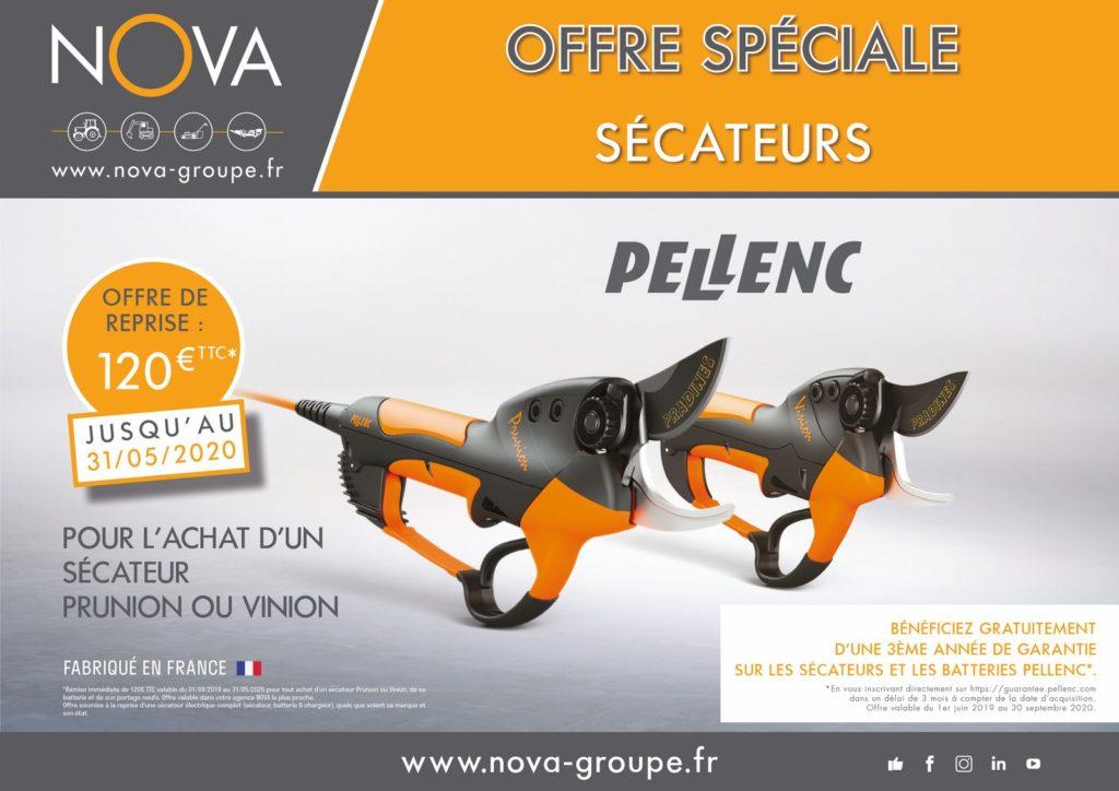 offre pellenc pack taille vignes offre de reprise 120 euros chez Nova PAACA