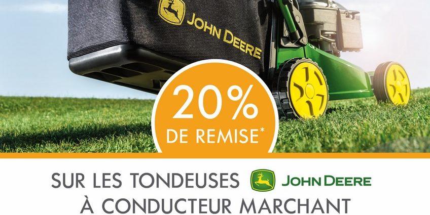 destockage tondeuses conducteur marchant john deere 08 2020 (nova)
