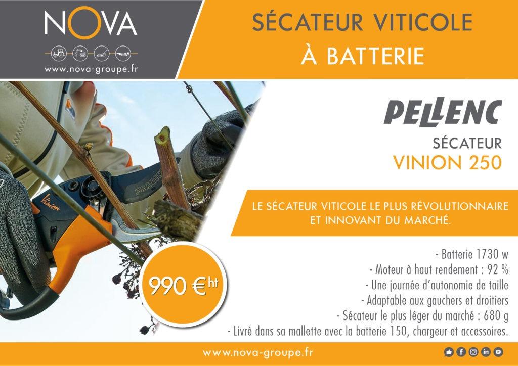 PELLENC VINION 250 09 2020 secateur viticole vignes viticulture