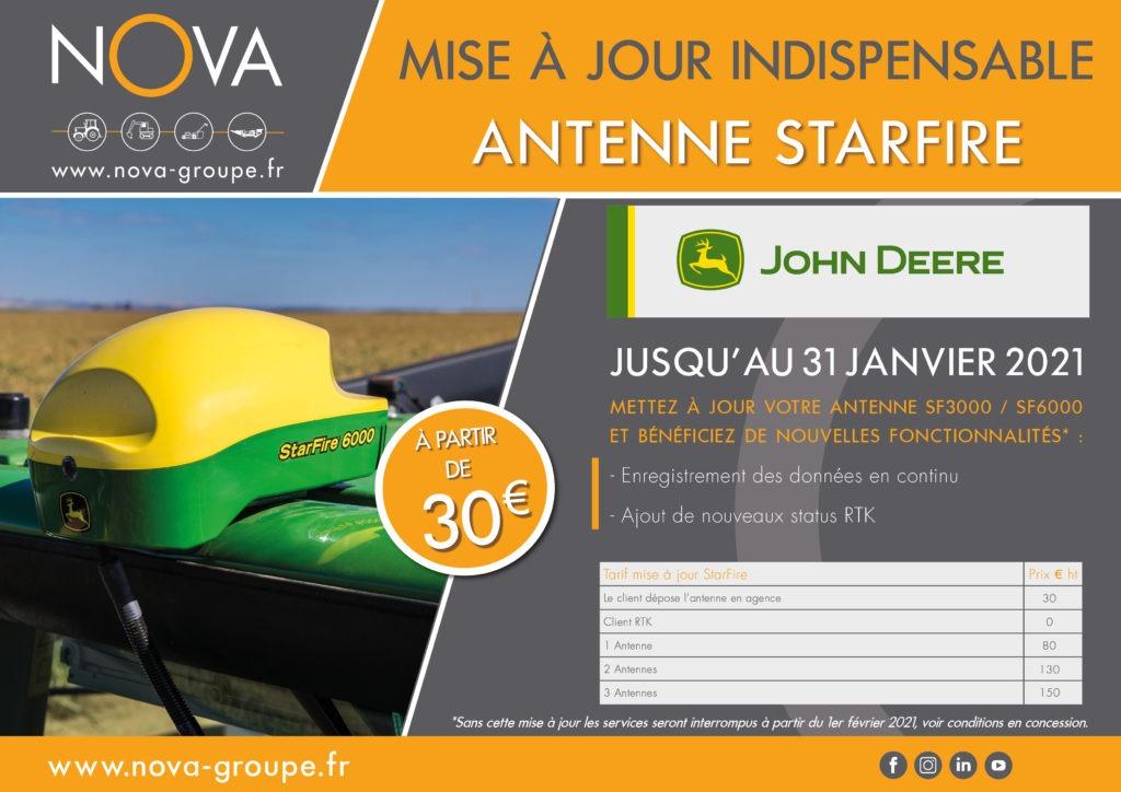 Mise à jour de vos antennes John Deere StarFire à effectuer avant le 01/02/2021