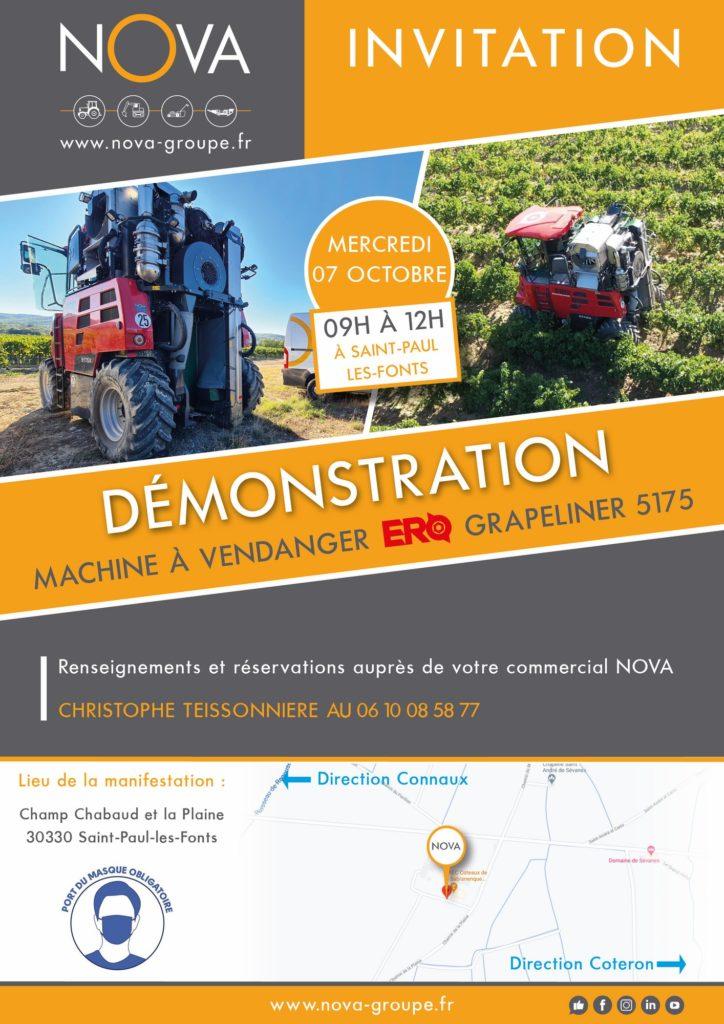 invitation nova machine a vendanger 07 octobre 2020 30330 saint paul les fonts
