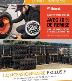 promotion pneus outils bobcat Janvier 2021 NOVA