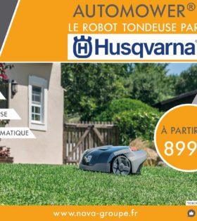 Campagne robot lancement HUSQVARNA NOVA