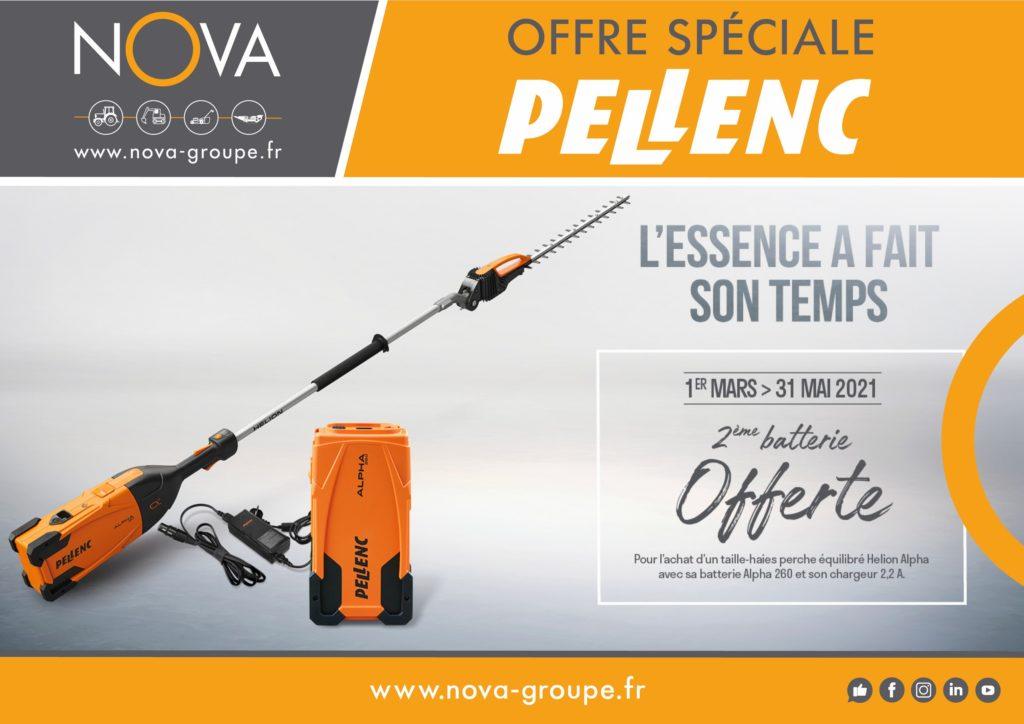pellenc offre 2eme batterie offerte 2021